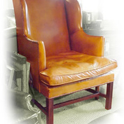 Chapman Wing Chair in Leather