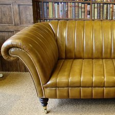 The Fluted Leather Chesterfield