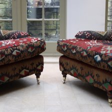 Semi Antique Kilim Lansdown Pair