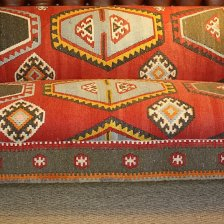 Kilim Upholstered 19th Century Chesterfield Sofa