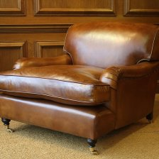 Leather 'Snuggler' Lansdown Chair