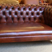 1880 Antique Leather Chesterfield