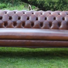19th Century Victorian Leather Chesterfield