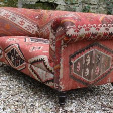 Turkish Kilim Antique Chesterfield Sofa