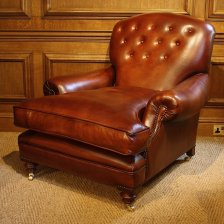 Victorian Antique Leather Club Chair