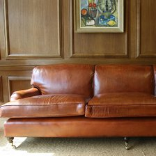 Magnificent 2.5 metre Leather Lansdown Sofa