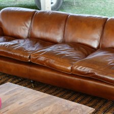 Lansdown 4-Seater Leather Sofa