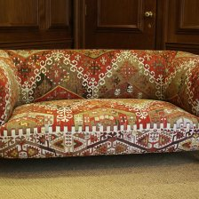 Kilim Upholstered Antique Chesterfield