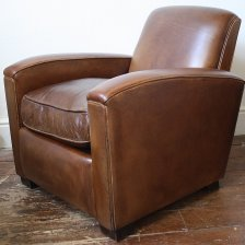 Vintage Leather Deco Chair