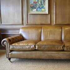 Full Scroll Buttoned Arm Lansdown Sofa