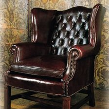 The Georgian Leather Wing Chair in Leather