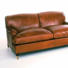 The Two and a half Seater Lansdown Sofa in Leather