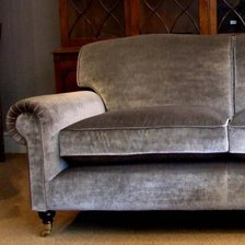 Full Scroll Two and a half Seater Lansdown Sofa in Fabric
