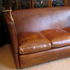 Three-Seater Knole Sofa in Leather