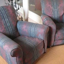1910 Pair of Chairs with Bun Castor Feet
