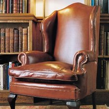 The Queen Anne Wing Chair in Leather
