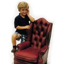 The Queen Anne Child's Chair in Leather