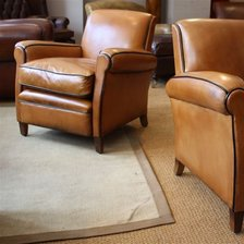 French Leather Club Chairs