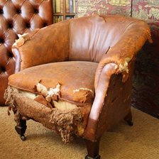 Arts & Crafts Leather Tub Chair