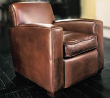 The Deco Chair in Leather