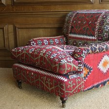 Semi-Antique Kilim Lansdown Chair