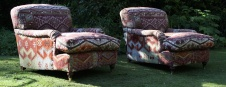 Kilim Upholstered Lansdown Pair of Chairs