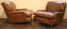Pair of Large Leather Lansdown Chairs