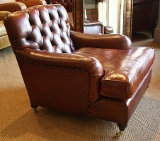 Leather Oxford Club Chair