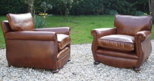 Early 20th Century Leather Club Chairs