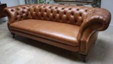 20th Cent. Leather Reupholstered Chesterfield