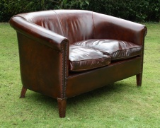 Vintage 2-Seater Amsterdam Leather Sofa