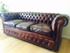 Vintage Leather 3-Seater Chesterfield