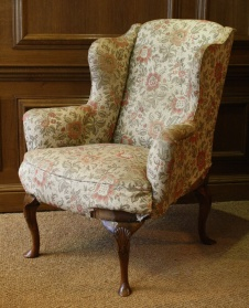 Walnut Wing Chair