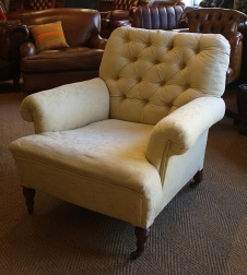 Late Victorian Sprung Edge Chair