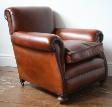 Restored 1920s English Club Chair
