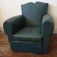 Blue French Moustache Chair