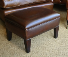 Brown Leather Amsterdam Stool