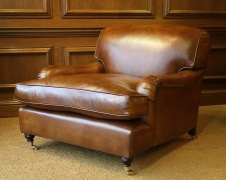 Snuggler Leather Lansdown Chair