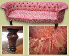Gainsborough Silk Victorian Sofa
