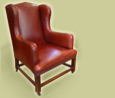 Oak Framed Wing Chair