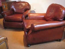 Loose Back Cushioned 1930s Pair