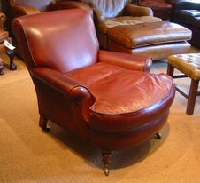 Victorian 'Howard' Style Leather Chair