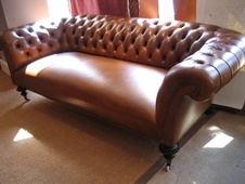 Fabulous Leather Victorian Chesterfield