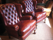 Edwardian Pair of Wing Chairs
