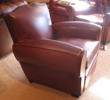 Leather Moustache Chair