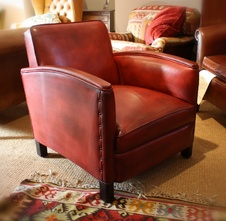 Funky French Leather Chair