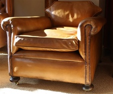 Low & Deep Victorian Leather Chair
