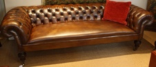 19th Century Leather Chesterfield