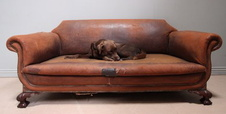 Mid-Victorian Leather Settee