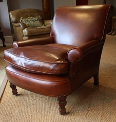 Carved Oak Legs Victorian Armchair
